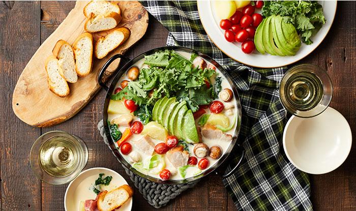 アボカドのクリーミーチーズ鍋